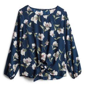 Zelia tie front blouse